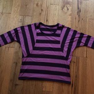 Coldwater Creek 2 tone purple top